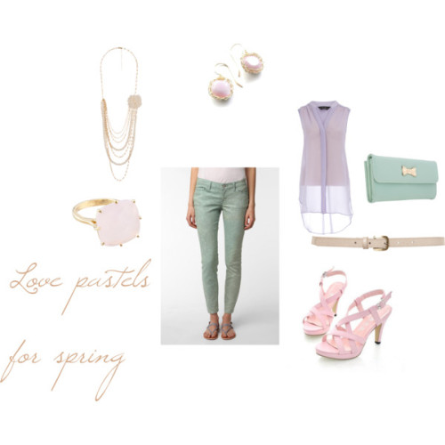 pastels by afffas featuring a snake belt