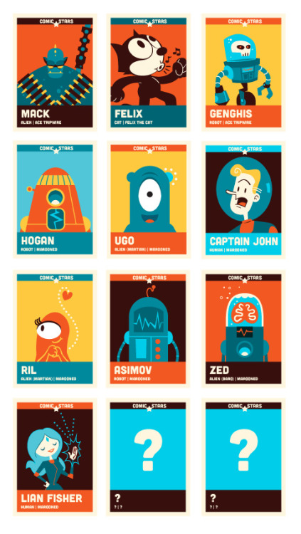majorbot:  Cards done so far in my Comic Stars series.