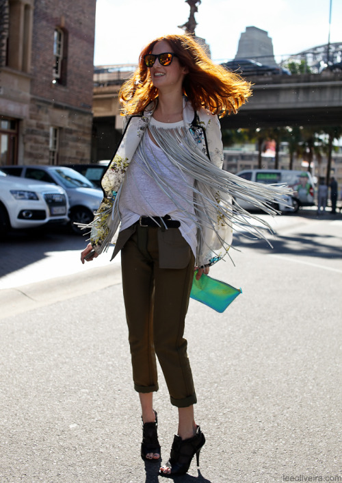 leeoliveirass:  Taylor Tomasi Hill at Australia Fashion Week Image: leeoliveira.com