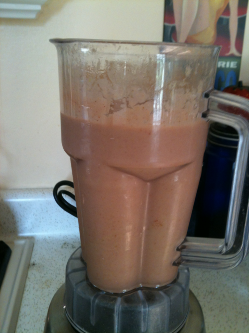 Vegan Strawberry Milkshake  1 whole ripe avocado 1 1/2 cups of frozen strawberries 1 1/2 cups of water 1 scoop of vegan vanilla protein powder( I use the brand Sun Warrior) 2 tbsp of milled flaxseed ( optional)  Has an amazing taste and much healthier than a normal milkshake.
