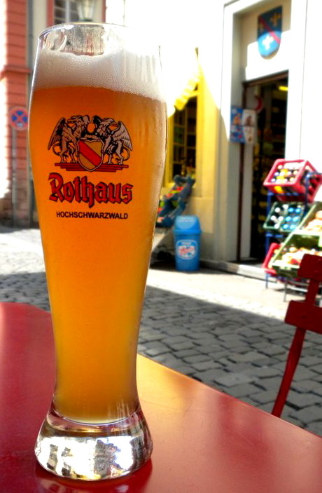 Rothaus Hefeweizen in Heidelberg, Germany.