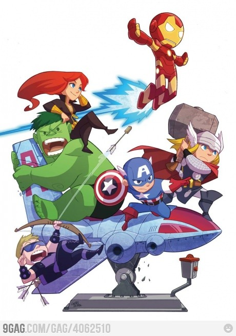 ragecomics4you:  Cute Avengers by Gurihiru http://ragecomics4you.tumblr.com
