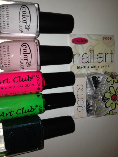 Gettin' my supplies ready for the Nom Nom Watermelon Nails!