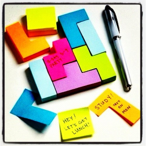 thefashionoffice:  #PostIt Heaven!!! #fashionoffice #bestoftheday #igers #iphonesia #instahub #instagood #instamood (Taken with instagram)  LOVE! I so need to get this! I always have post it notes with me - you never know when you might need them. Always be prepared!