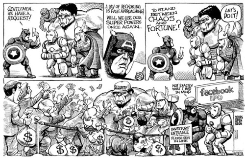 KAL's cartoon: this week, queuing up.