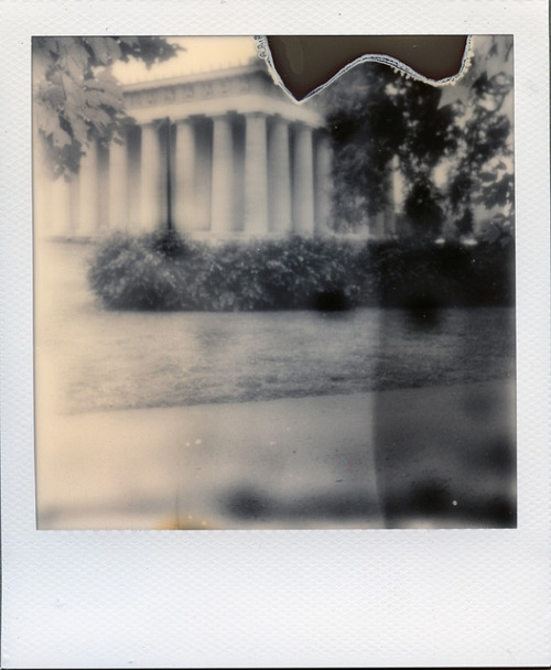 Impossible: Parthenon on Flickr.Polaroid one600, Impossible PX600 Silver Shade old generation
