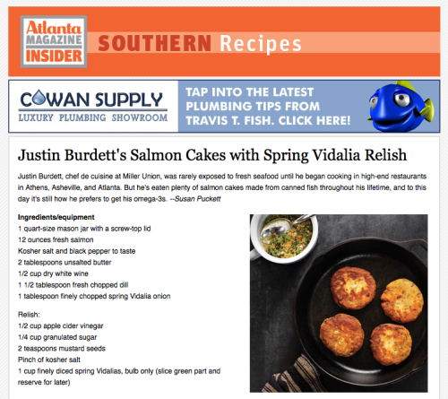 Lunch Idea: Salmon cakes from Miller Union's chef de cuisine, as featured in yesterday's recipe newsletter