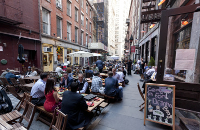 nycgo:  Stone Street - Photo: Will Steacy/NYC & Company