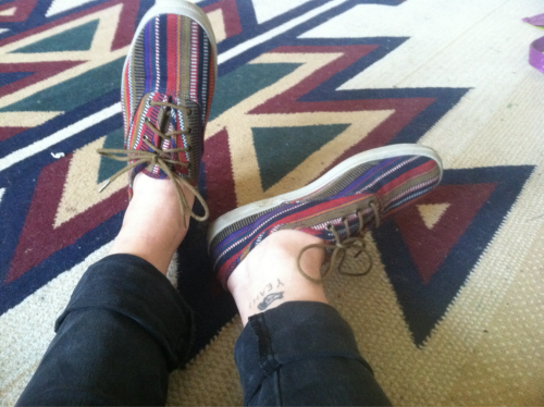 Summer kix! My feet officially match my rug…