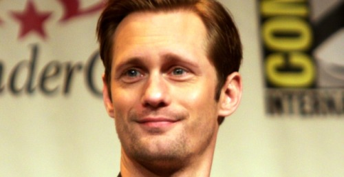 "Alexander Skarsgard ""Born to Play"" Fifty Shades of Grey's Leading Man Alexander Skarsgard plays vamp Eric Northman on HBO's True Blood, a cold and calculating character who isn't afraid to strip down and get adventurous in the sack. So is it any surprise that fans thought of the Swedish hunk when considering who might play the role of Christian Grey, the BDSM-loving billionaire in the erotic thriller Fifty Shades of Grey? Even Skarsgard believes he'd be perfect for the part. Born to play this character"
