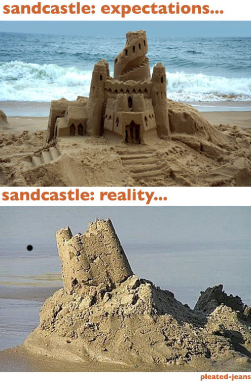 Beach Expectations vs. Reality