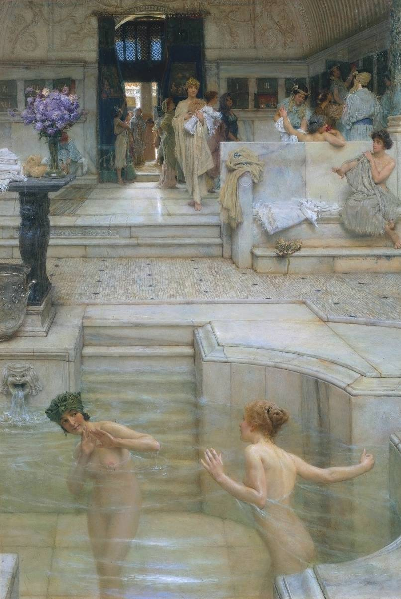 Sir Lawrence Alma-Tadema - A Favourite Custom, 1909. Oil on canvas