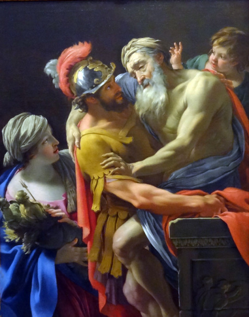 necspenecmetu:  Simon Vouet, Aeneas and His Family Fleeing Troy, 1635