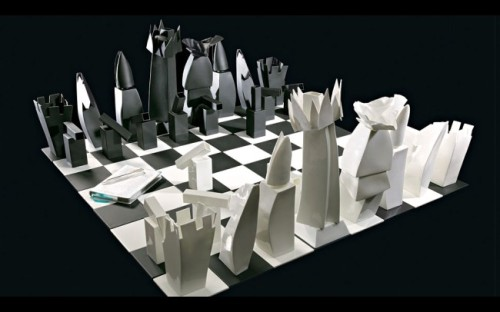 fafafab:  Chess Set designed by Frank Gehry for Tiffany & Co.