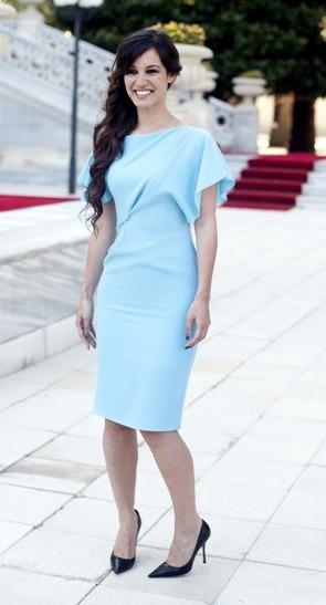 Bérénice Marlohe, the newest Bond girl, looks stunning in Roksanda Ilincic at a press event. We have a feeling we will be seeing a lot more of this fresh new face!