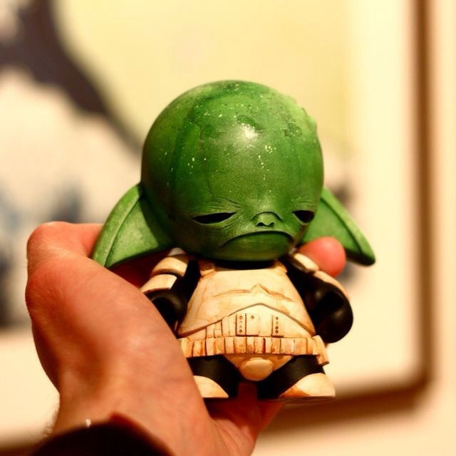 393. Yodatrooper The Yoda in Stormtrooper armor Munny by Squink is just kind of cute.