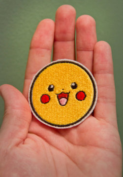 Pikachu — Embroidered Iron-on Pokemon Patch