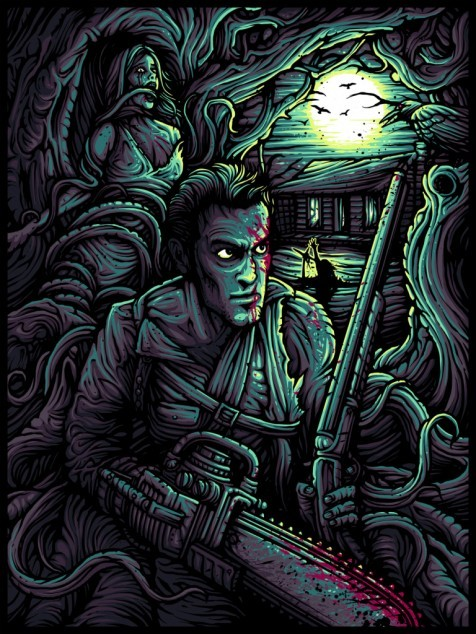 An epic poster from Dan Mumford for The Evil Dead