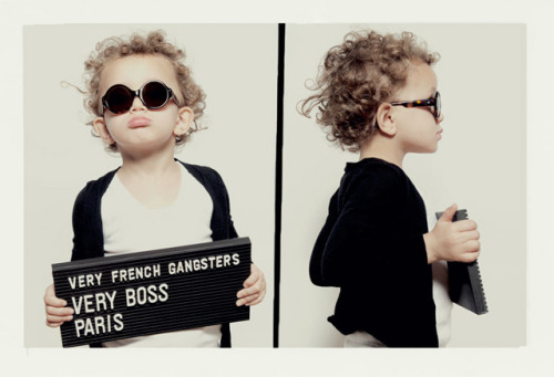 darklamb:  papermag:  laughingsquid:  Mugshots of Kids Taken by Very French Gangsters  We were lagging on the cuteness. You're welcome.  Ha just got this in an email. I guess the press/sales team hit everyone's inboxes with doses of cuteness all at once.