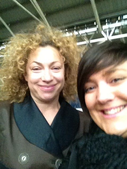 "Song Sighted alexkingstonsrampantrabbit:  ""Just bumped into the fab & gorg Alex Kingston in Leeds!"" [x]"