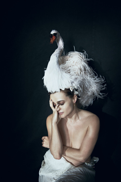 bohemea:  Helena Bonham Carter - Interview by Peter Lindbergh, May 2012 The interview is with Daniel Radcliffe! Adorable!