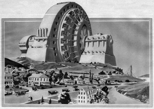 paleofuture:  In 1922, Hugo Gernsback wanted to build a 1,000 foot concrete monument to electricity.