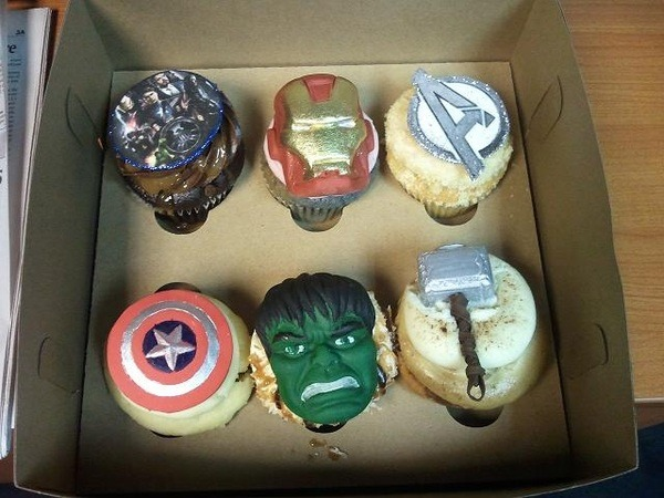 Some awesome Avengers cupcakes my cousin linked me to. Iron Man is my fave!