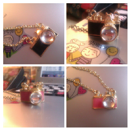 These little camera necklaces are so adorable… (I have kept one for myself as I love them so much!) Lovely detail and cute size. Elegant and ladylike, but so cool at the same time! Perfect!  Available at JustSoCute! (click picture to go to the site :))  Direct link - pink: http://justsocute.ecrater.co.uk/p/14598607/beautiful-pink-camera-necklace black: http://justsocute.ecrater.co.uk/p/14598613/beautiful-black-camera-necklace