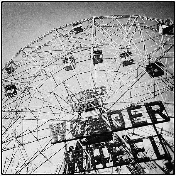 aftonalmaraz:  The Wonder Wheel, at #ConeyIsland in the #Brooklyn borough of #NYC.