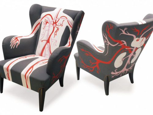 laughingsquid:  Circulatory Flow Wingchair  Anatomy chairs