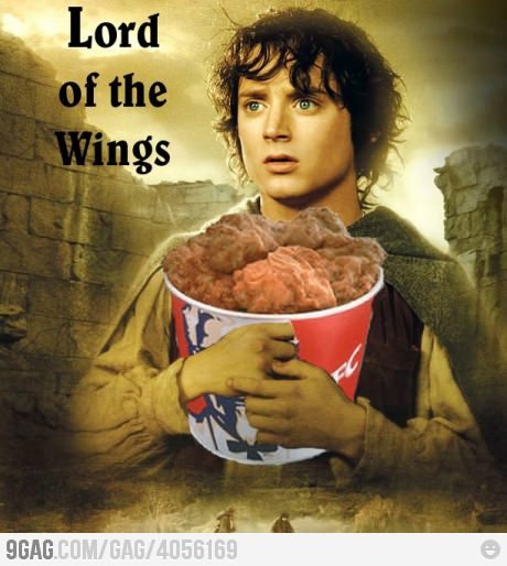 Mr Frodo you have to drop those in the volcano.No Sam they're delicious.