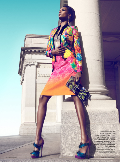Arlenis Sosa by Kevin Sinclair for Harper's Bazaar Mexico May 2012