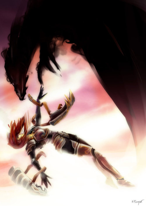 League of legends - Shyvana: The Fall~ by nfouque
