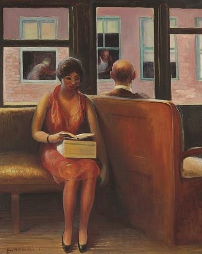 poboh:  Third Avenue El, Guy Pene du Bois. American (1884 - 1958)