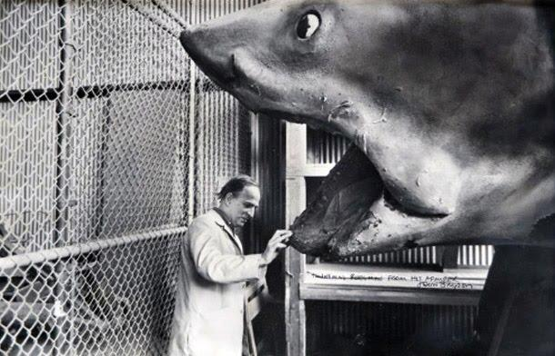 Ingmar Bergman on the set of JAWS. <3