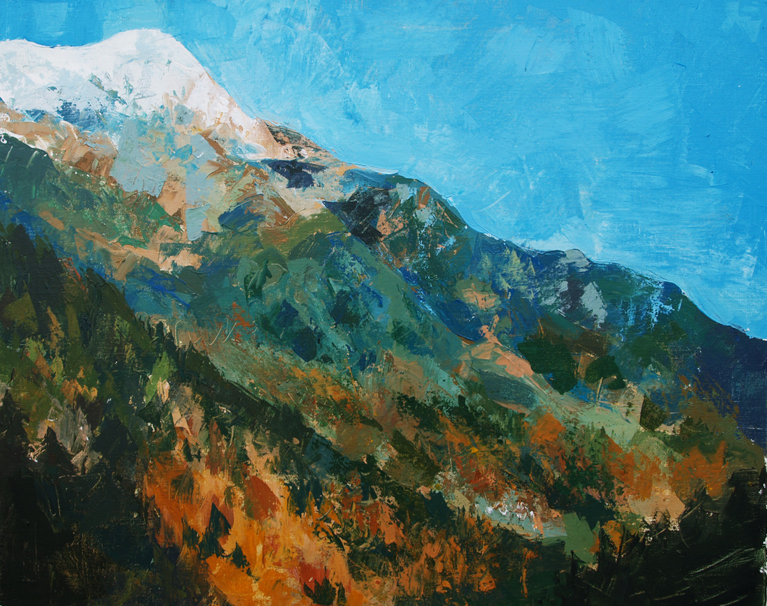 Mount 6. Acrylic. Palette knife, 2012
