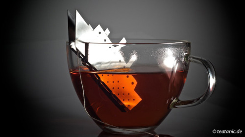 laughingsquid:  TEA.Tanic, A Sinking Titanic Tea Bag Holder  TITANIC