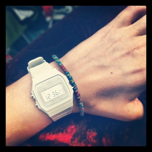 I've started to wear a digital watch, hoping it will make me more timely. (Taken with instagram)