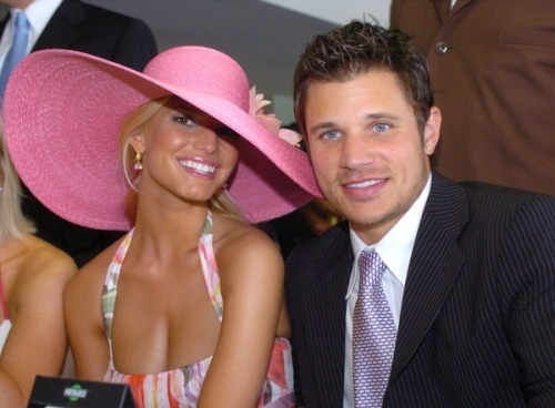 Jessica Simpson And Nick Lachey at the Kentucky Derby, 2004