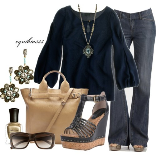 Classy Casual by cynthia335 featuring ankle strap sandals