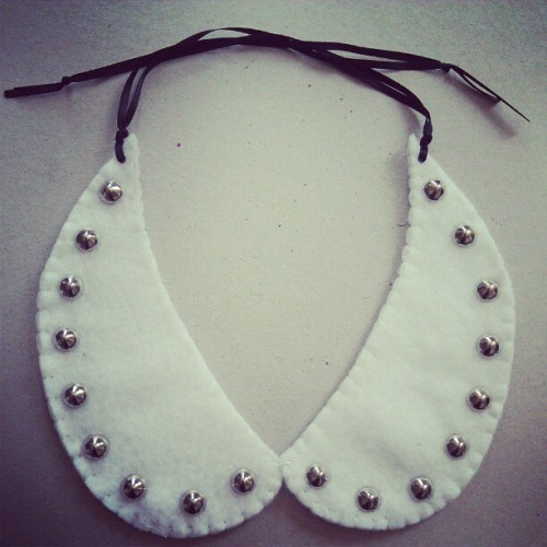 Cone stud collar necklace #etsy (Taken with instagram)