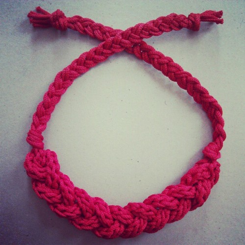 Braided knit nylon bib necklace #etsy (Taken with instagram)