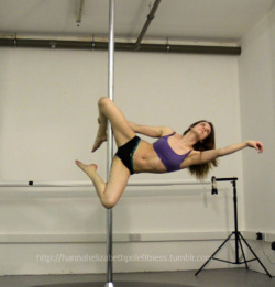 Advanced Pole Moves :  Some sort of genie variation I would say. I like this - you can also straighten the bottom leg to go into The Q, which I did but the angle didn't show the move properly so I shall shoot it again next time
