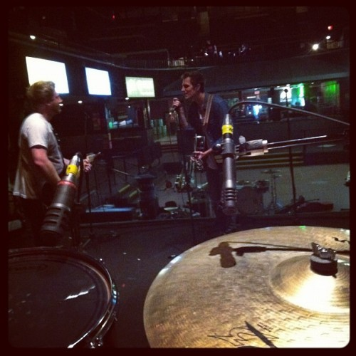 Doing that soundcheck thing (Taken with instagram)