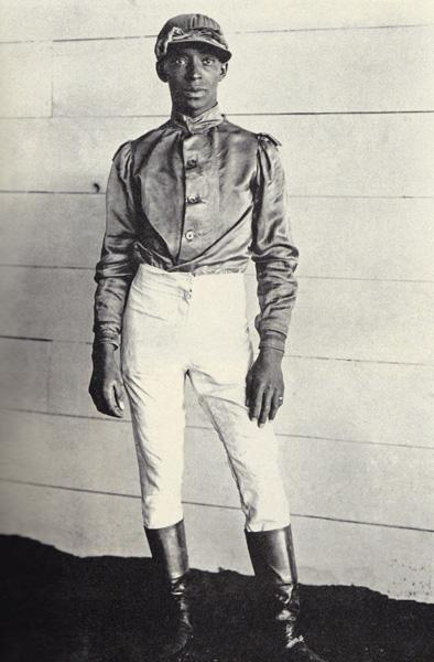 "Today in 1902, African-American thoroughbred jockey Jimmy Winkfield won his second Kentucky Derby. James ""Jimmy"" Winkfield was born in Chilesburg, Kentucky on April 12, 1882. In 1901, he won his first derby with Eminence and in 1902 with Alan-a-Dale. 110 years later, Winkfield is the last African American to win at the Kentucky Derby.  For more information about the Kentucky Derby's forgotten jockeys, visit Smithsonian Magazine."