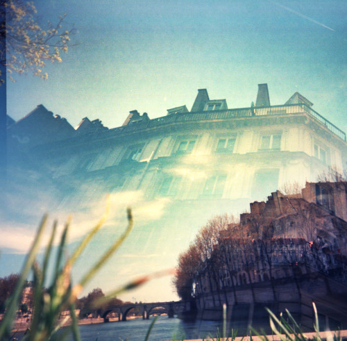 Paris Double Exposure: Les Quais | Shot with a Superheadz Black Slim Devil and Kodak Ektar 100 {See more photos shot with a Black Slim Devil | See more photos shot on Kodak Ektar}