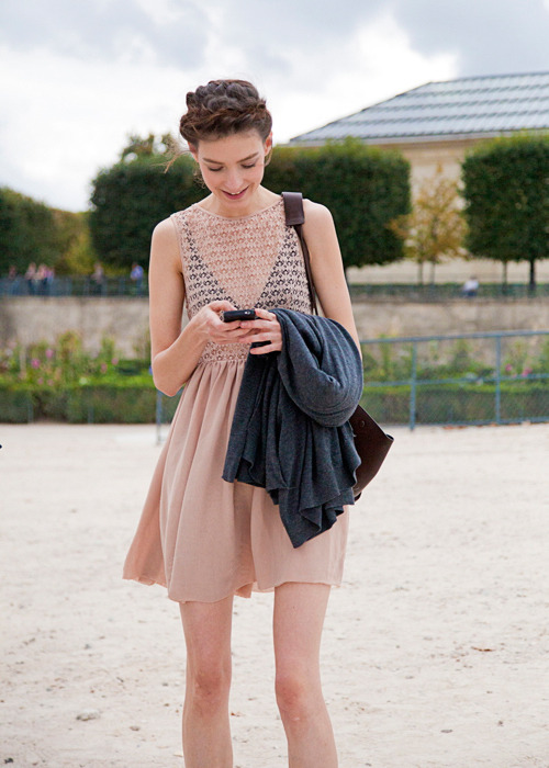 bonaelamour:  Kati Nescher (in) After Valentino SS 2012 Check out Kati's FTV Fresh Face Countdown video for FW 12.13 in which she is ranked #1. Kati was definitely the queen of the runway this past recent season! I love hearing Kati talk. We actually rode the subway together after Mui Miu FW 12.13 on the last day of Paris Fashion Week and had a fun chat about the whole crazy month. She's such a humble, grounded, and gracious lady!