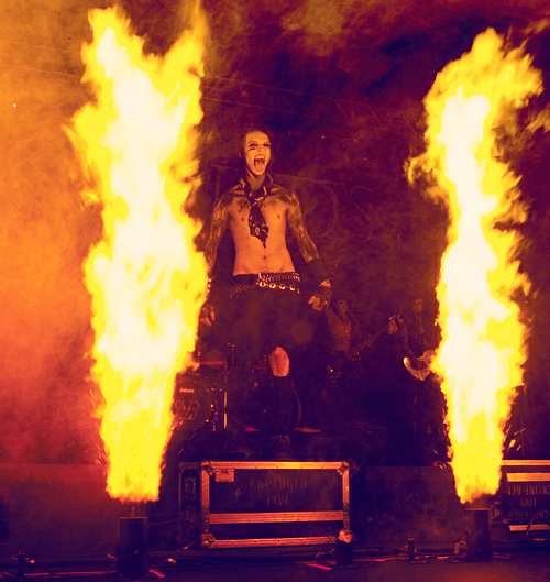 Aw, c'mon, Andy, the fire was unnecessary… We all know you're hotter than it<3<3