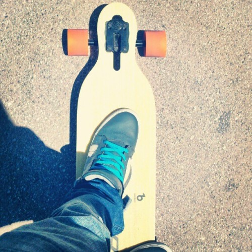 I look at this everyday. It is my love. #me #longboard #mywhip #nodriverslicense #ilovemyshoestoo #supras #hashtagsaremyfavoritepartofinstagram #kdone  (Taken with instagram)