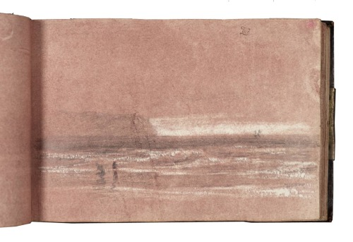 loverofbeauty:  William Turner:  Sketchbook  William Turner: Sketchbook I'm fascinated by the scarcity of marks on this page.